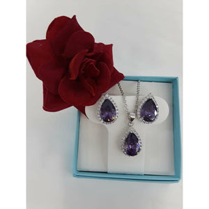 Sterling silver .925 Amethyst tear drop set