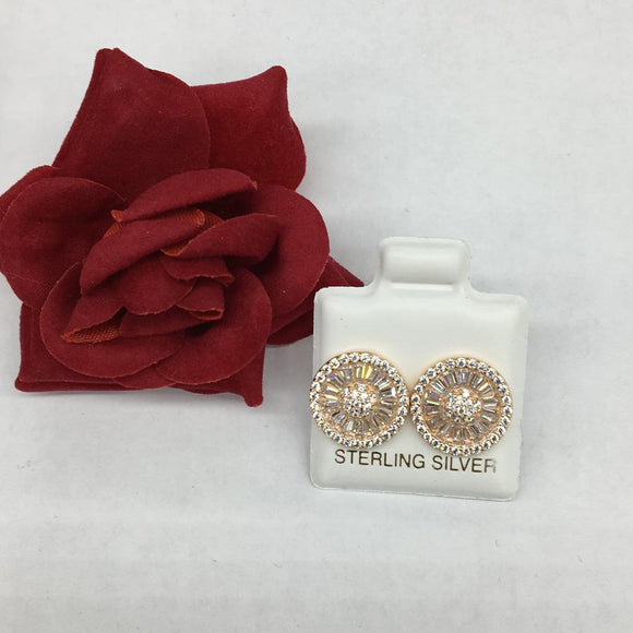 Rose Wheel Earrings