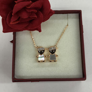 Rose Twin Boy Necklace