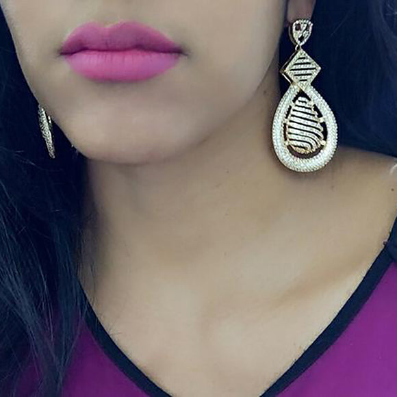 Intricate Gold Drop Earrings