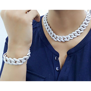 Silver Chain Link Fashion Set