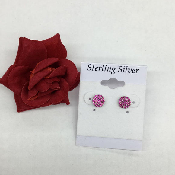 Mini Pave Pink Earrings