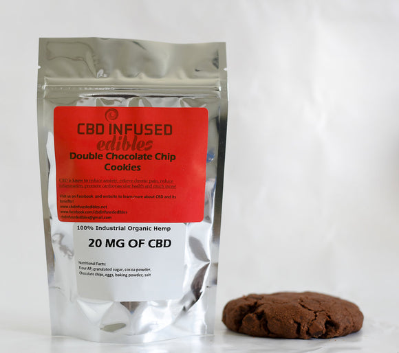 (1 Piece) 20 MG CBD Double Chocolate Chip Cookie