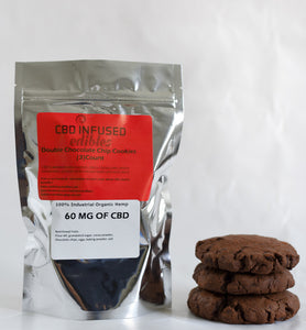 (3 Piece) 60 MG CBD Double Chocolate Chip Cookie