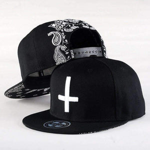 Embroidery Cross Snapback - 4THELOW