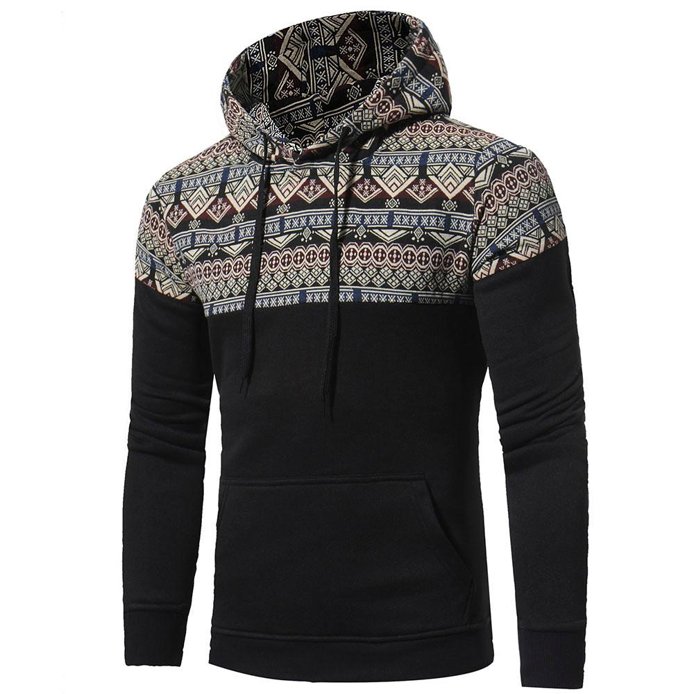 Retro Fleece Hoodie For Men - 4THELOW