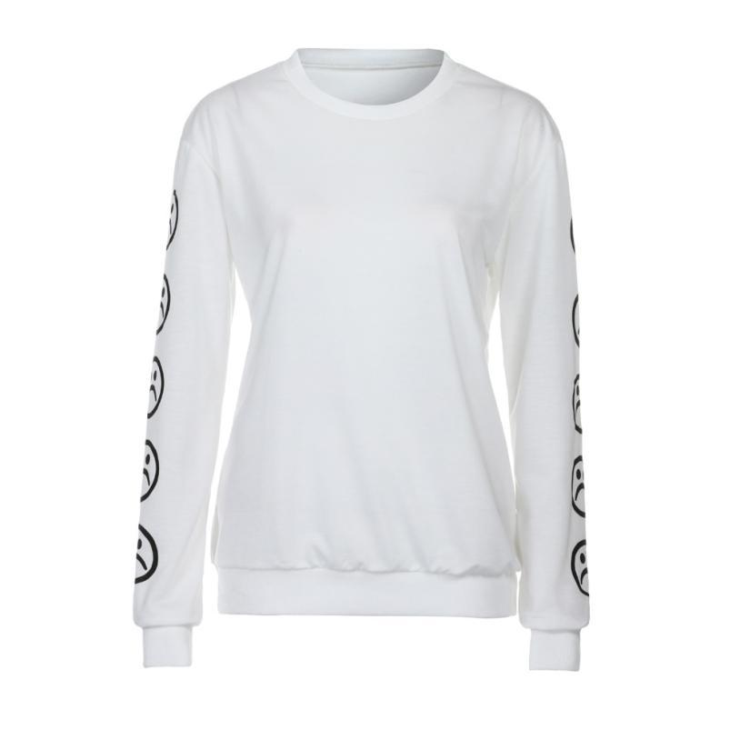 Sad Faces Long Sleeves Sweatshirt - 4THELOW