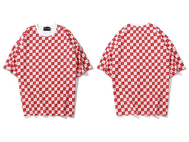 Strange Checkered T-Shirt - 4THELOW