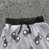 little monsters and the lions short sleeve 2pcs