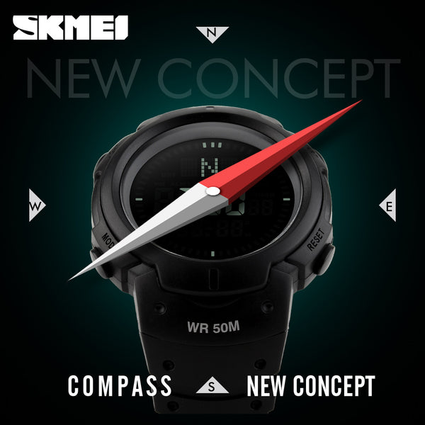 SKMEI Brand Compass Watches  Water Proof Digital Outdoor Sports Watch