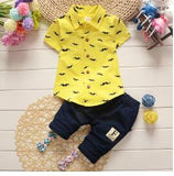 Gentleman Style Kids Clothing Sets T- Shirt+Pants