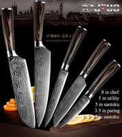 Damascus steel kitchen