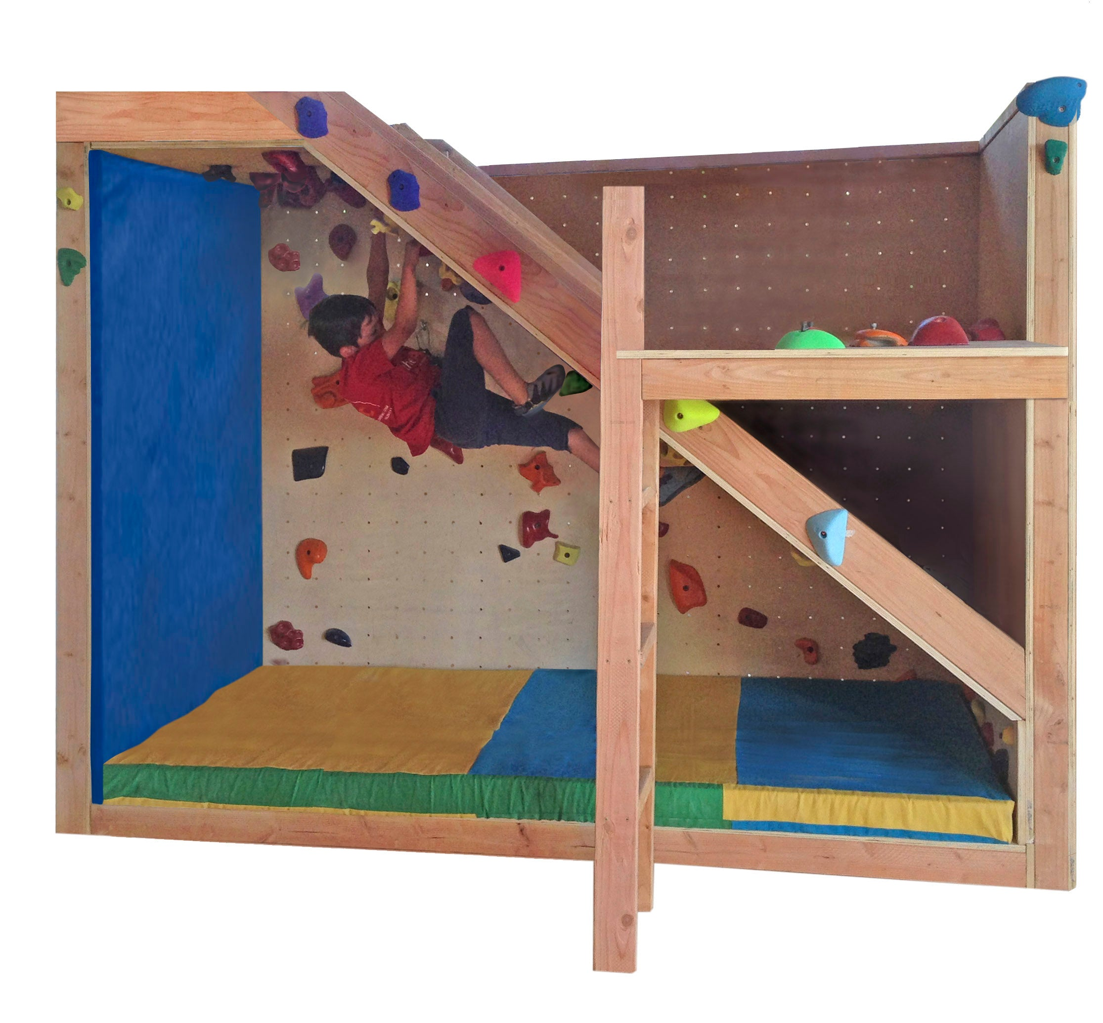 Kids Indoor Bedroom Rock Climbing Wall - Rock Climbing Wall - Climbing Training - Bouldering wall