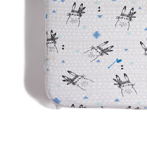 Aster & Oaks Bunny Chief Fitted Cot Sheet Baby Greene