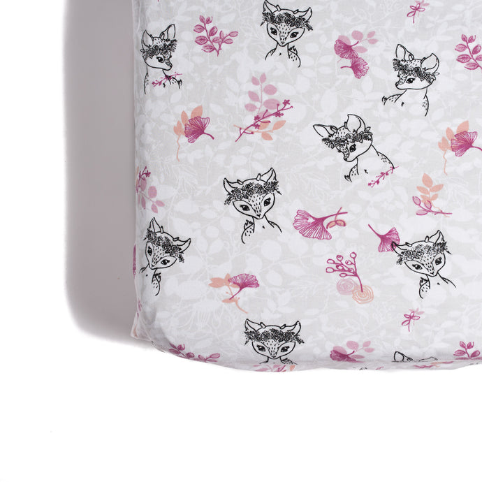 Aster & Oaks Fawn Fitted Cot Sheet Baby Greene
