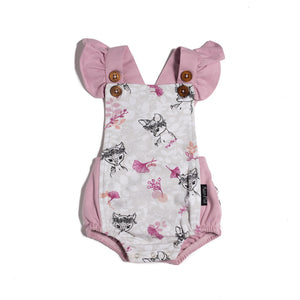 Aster & Oak Fawn Ruffle Playsuit Product Front Baby Greene