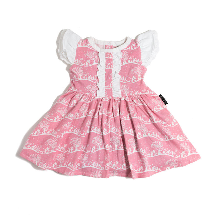 Aster & Oak Pink Organic Enchanted Meadow Dress Product Baby Greene