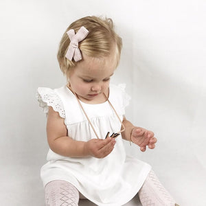 Baby Girl In Embroidered Frill Sleeve Dress