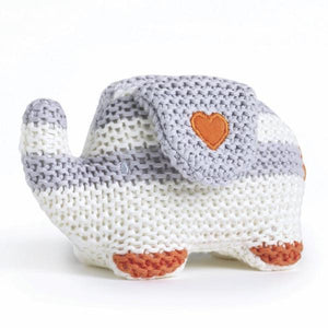 Natures Purest Knitted Elephant Baby Greene
