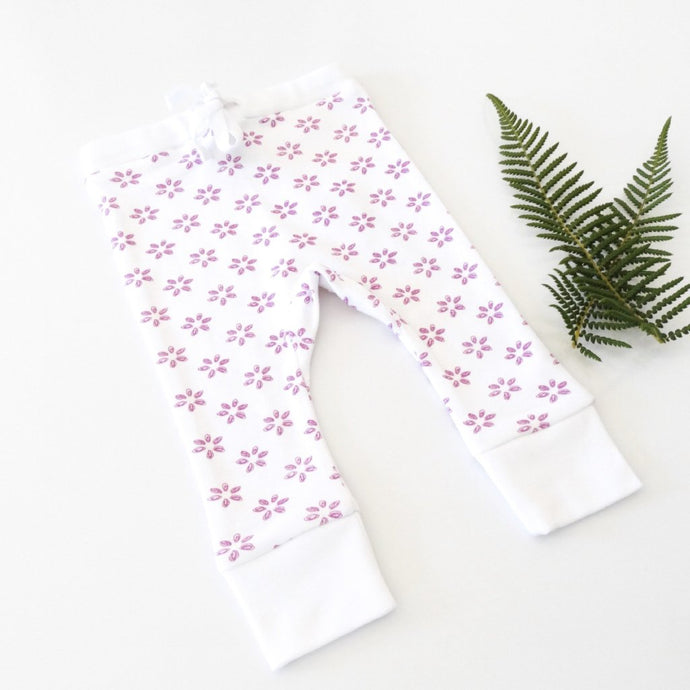 Tropical Bloom Leggings Flatlay