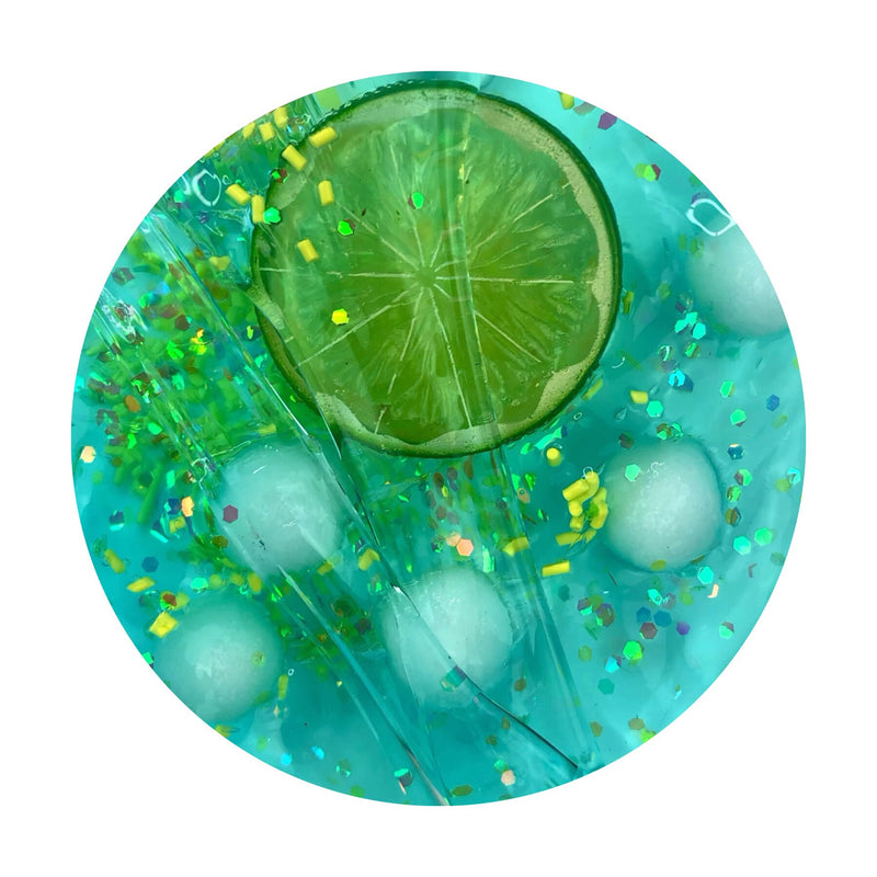 Blue Limeade Soda Clear Slime