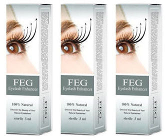 3 Pack FEG Eyelash Enhancer for Longer, Thicker & Fuller Lashes