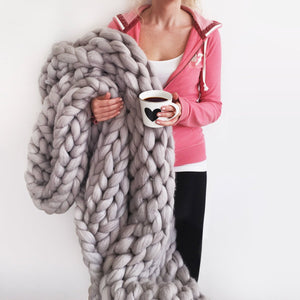 Extreme Chunky Knit Blanket