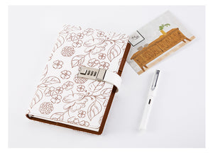 Oh Flora! Notebook with Lock