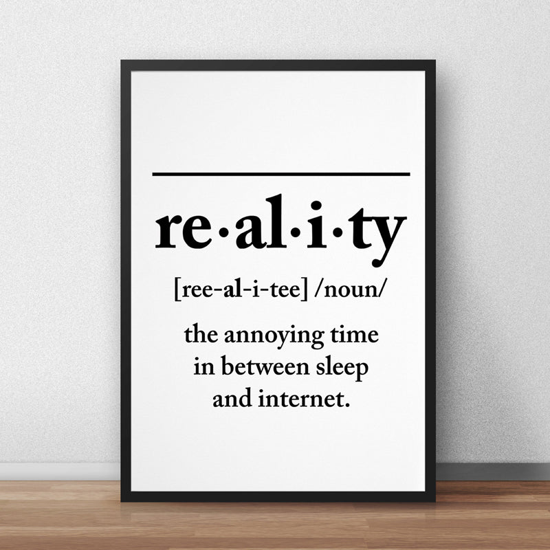 Back To Reality Canvas Print