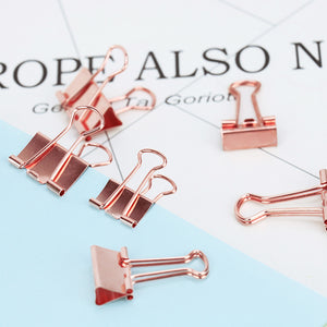 Rose Gold Metal Binder Clips