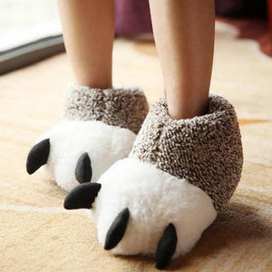 Rawr Plush Bear Slippers