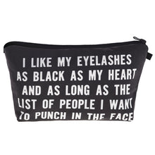Black Heart Makeup Bag