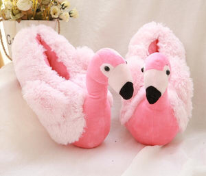 Flamingo Plush Slippers