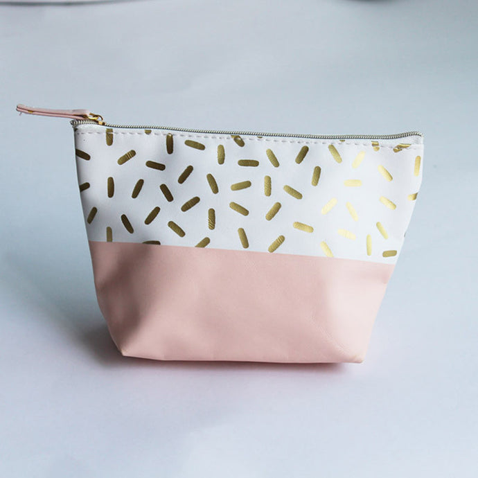 Sprinkled Pink Cosmetic Bag