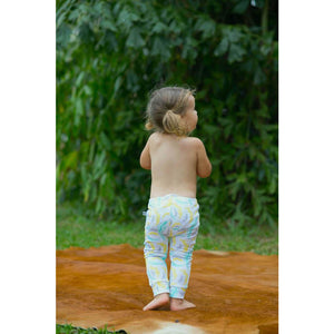 Yellow Feather Leggings