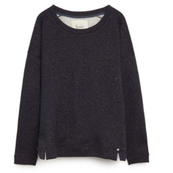 Navy Sweater with Bronze Shimmer