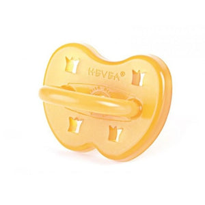 Hevea Natural Rubber Crown Design Pacifier 0-3 months Round