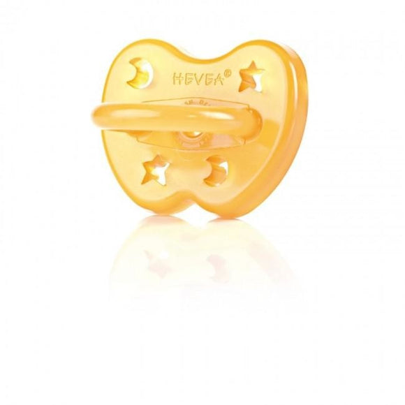 Hevea Natural Rubber Star and Moon Pacifier 0-3 months Orthodontic
