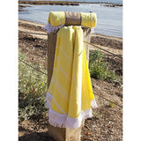 Round Turkish Towel - Zesty Lemon