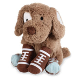 Mud Pie football buddy sock puppy