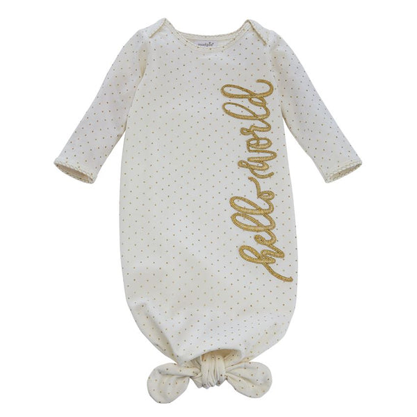 Mud Pie hello world sleep gown