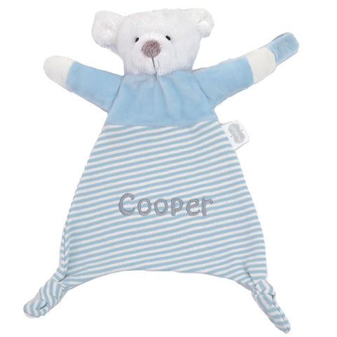 Mud Pie personalised name cuddlers blue