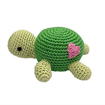 Cheengoo turtle crocheted rattle