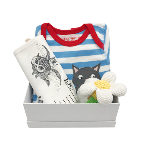 Cat onesie gift set for boys
