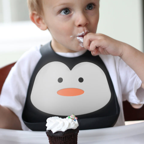 Make My Day chill out penguin baby bib
