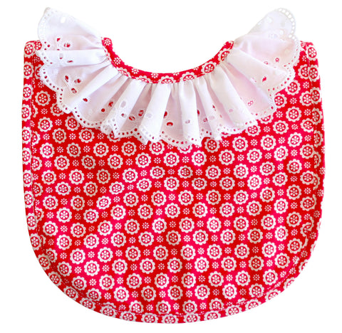 Alimrose ruffle collar bib - Personalised name available