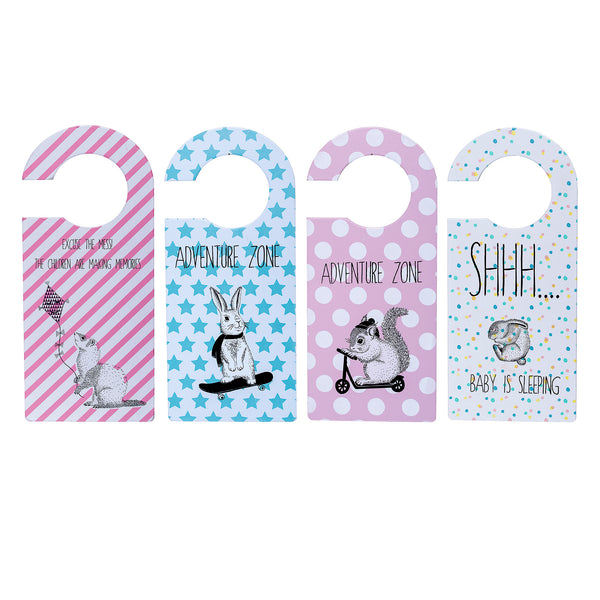 Bloomingville rabbit squirrel baby door sign
