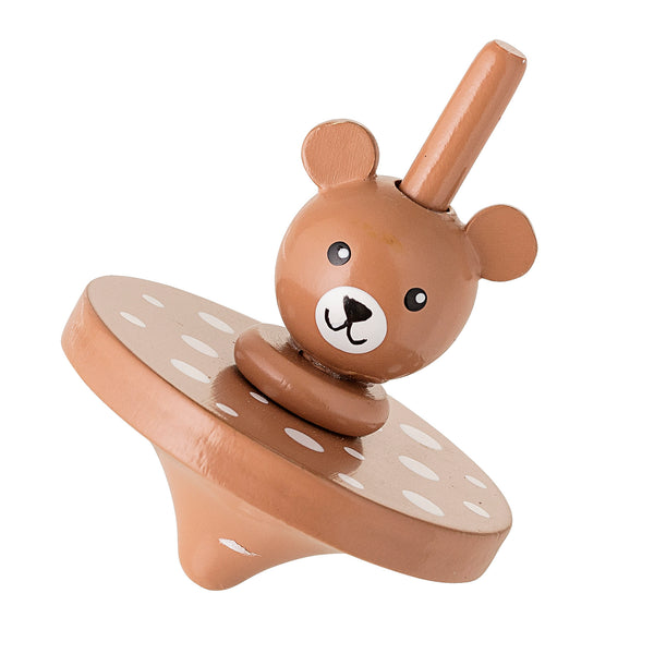 Bloomingville bear wood spinning top