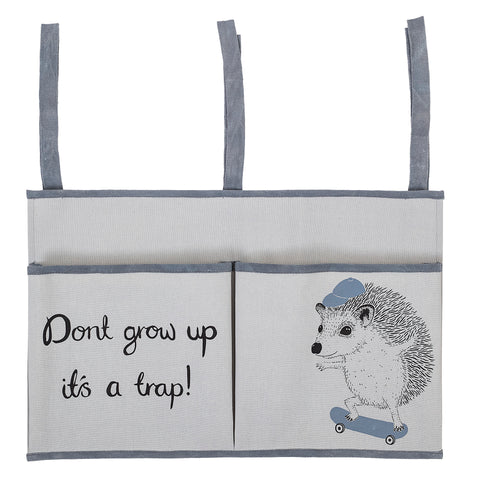 Bloomingville hedgehog bedside storage bag