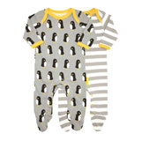 Toby Tiger penguin babygrows 2 pack